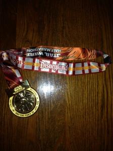 Star Wars Half Marathon Finisher's Medal