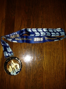 Coast to Coast Medal; by completing the Dopey Challenge and the Rebel Challenge, I earned my C2C Medal!