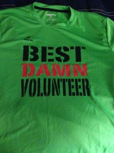 The Best Damn Volunteer shirt.