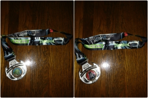 Rebel Challenge Finisher's Medal: Yoda and Darth Vader spinner in the center.