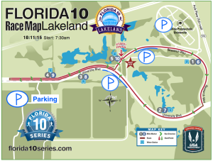 The course map for the race.