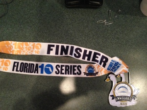 The finisher's medal for this year is really nice.